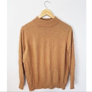 Dress Barn Camel Tan Mock Neck Sweater